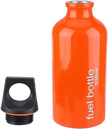 VGEBY1 Botella de Combustible, 530 ML Estufa de Aluminio Tanque de Gasolina Botella de Gasolina Contenedor de Almacenamiento de Aceite para Acampar al ...