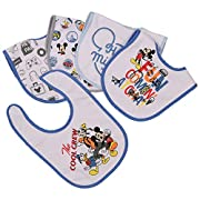 Disney Mickey Mouse 5 Piece Bibs, Cool Crew, Blue