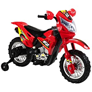 Vroom Rider VR093 6V Battery Operated Kids Dirt Bike, Red