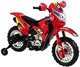 Vroom Rider VR093 6V Battery Operated Kids Dirt Bike, Red
