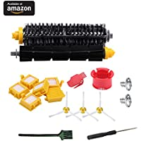 GHM Irobot Accessories for Irobot Roomba 700 Series 700 761 760 770 780 790 Vacuum Cleaner,Replacement parts with 1 Set Debris Extractor Set & 3 Side Brushes & 6 Hepa Filters