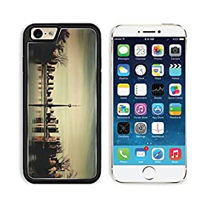 Dusk Cn Tower Tourism Downtown Toronto Ontario Canada Apple iPhone 6 TPU Snap Cover Premium Aluminium Design Back Plate Case Customized Made to Order Support Ready Liil iPhone_6 Professional Case Touch Accessories Graphic Covers Designed Model Sleeve HD Template Wallpaper Photo Jacket Wifi Luxury Protector Wireless Cellphone Cell Phone