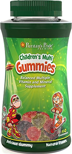 Puritan's Pride Children's Multivitamins & Minerals Gummies-60 Gummies