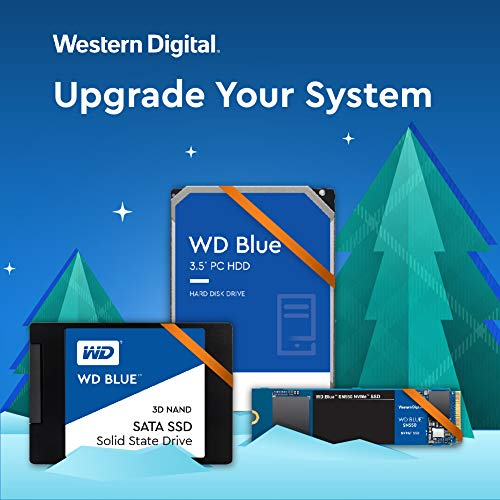 """Western Digital 4TB WD Blue PC Hard Drive - 5400 RPM Class, SATA 6 Gb/s, , 64 MB Cache, 3.5"""" - WD40EZRZ"""