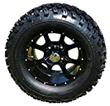12'' Night Stalker Black Golf Cart Wheels with 23'' All Terrain Tires - Set of 4