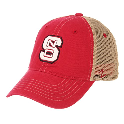 NCAA North Carolina State Wolfpack Men's Institution Relaxed Cap, Adjustable, Red