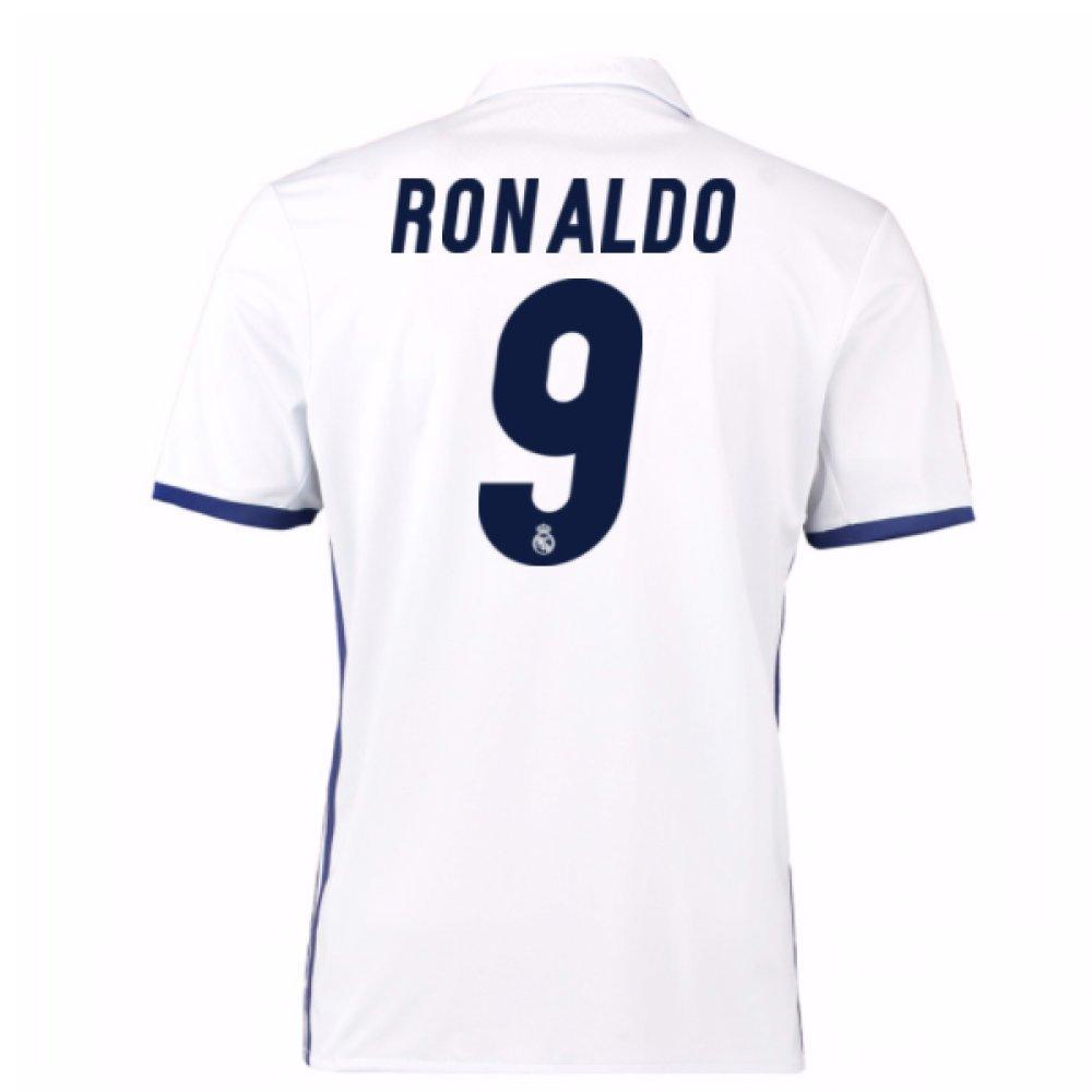 2016-17 Real Madrid Home Shirt (Ronaldo 9) B078561TT9White Medium 38-40\