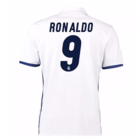 pretty nice 3abe5 42d3d Amazon.com : 2016-17 Real Madrid Home Football Soccer T ...