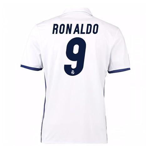 pretty nice 29536 ed070 Amazon.com : 2016-17 Real Madrid Home Football Soccer T ...