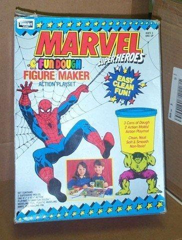 Vintage Marvel Comics Figure Maker Spiderman Incredible Hulk by Rose Art