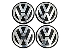 """This is a """"BRAND NEW"""" VERY HIGH QUALITY VW CENTER CAP. Part # 7L6-601-149B, it Measures 70MM OD diameter and 58MM OD of the Clips. This is for 4 Center Caps. To ensure fitment of this wheel cap pull your current old cap off and make sure part..."""