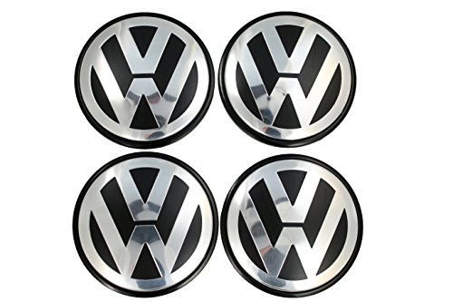 Votex - Wheel Center Cap is Compatible with Volkswagen Touareg, Transporter - 70MM Hubcap - Part Number 7L6-601-149B (4 Pieces) ()