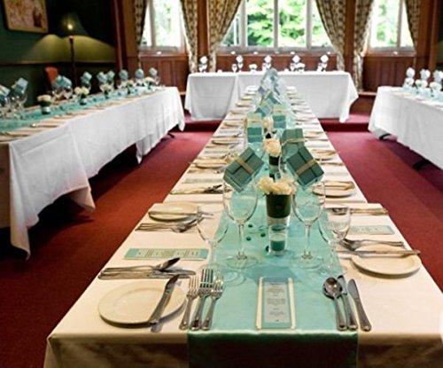 Amazon tiffany blue table runner 90 x 13 wedding holiday tiffany blue table runner 90 x 13 wedding holiday birthday table dcor junglespirit Gallery