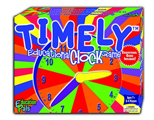 Education Pals™ TIMELY™ - Best Learning Clock Game - Cool Math Games -Top Educational Play for Boys & Girls. - Perfect for Kids & Entire Family. - Best Gift for Elementary School Students.