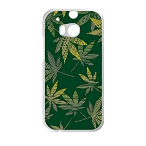 Artistic aesthetic leaves fashion phone case for HTC One M8