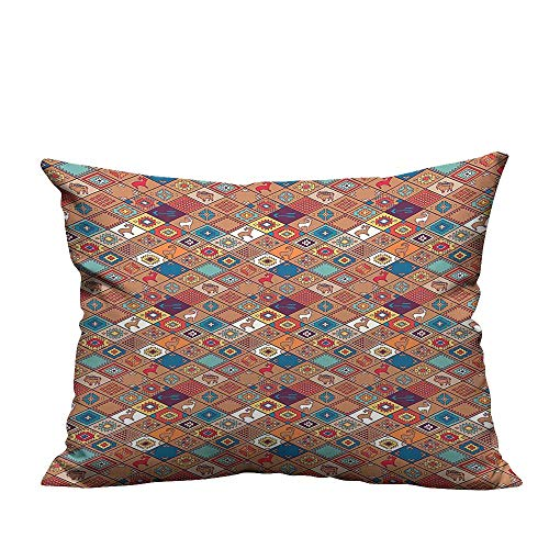 YouXianHome Decorative Throw Pillow Case Style Native American Tribal Primitive Cultural Spiritual Folk Art Design Ideal Decoration(Double-Sided Printing) 12x16 -