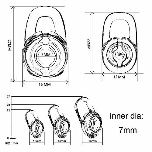 12 Pcs Small//Medium//Large Fit for Plantronics M155 M165 M1100 M100 M55 M28 M25 Voyager Edge Clear Replacement Eargel /& 8 Pcs Clear Ear Hook Zotech Earbud Gel /& Ear Hook for Plantronics