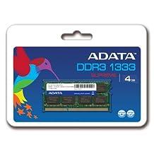 ADATA Supreme 4 GB DDR3-1333 (PC-10666) CL9 SO-DIMM Memory Module SU3S1333C4G9R (Black)