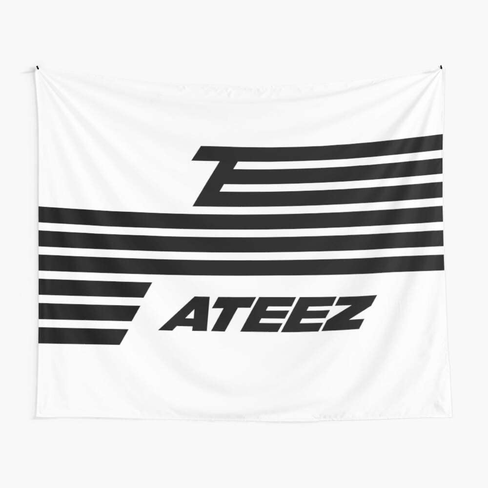 ATEEZ'S Flag Wall Tapestry, Pop Art Tapestry Wall Hanging Boutique Cute Tapestry Peach Vintage Tapestry for Living Room Bedroom Dorm Decor (59.1 x 51.2 inches)