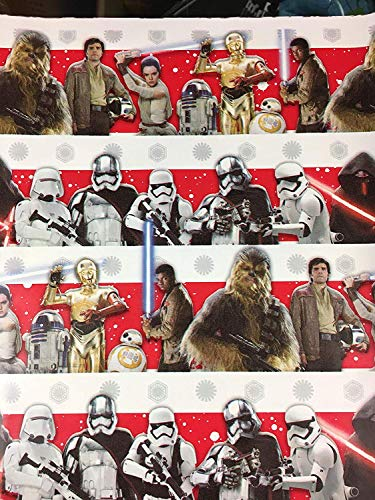 Star Wars The Force Awakens and The Last Jedi Christmas Gift Wrapping Paper -20 Square Feet 1 -
