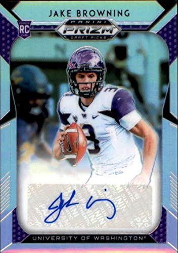 2019 Panini Prizm Draft Picks Prizms Silver Autograph #278 Jake Browning Auto Washington Huskies RC AUTO NCAA College Football Trading Card