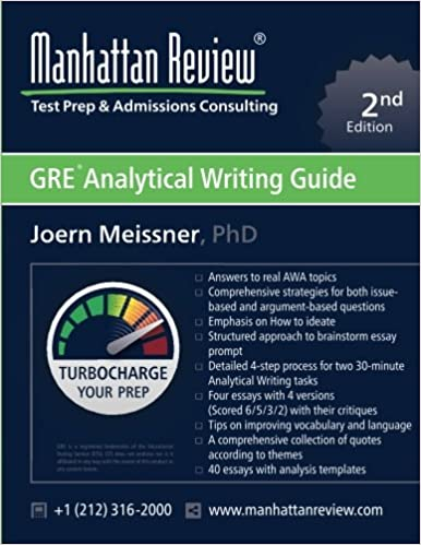 manhattan review gre analytical writing guide nd edition  manhattan review gre analytical writing guide 2nd edition answers to real awa topics