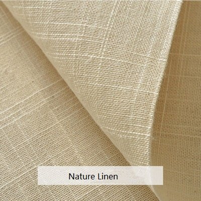 LOVOUS 100% Nature Linen Needlework Fabric, Plain Solid Colour Linen Fabric Cloth Hemp Jute Fabric Table Cloth Garments Crafts Accessories, 20 by 62-Inch (Color 2)