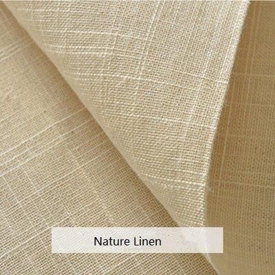 100% Nature Linen Needlework Fabric, Plain Solid Colour Linen Fabric (Jute Material)