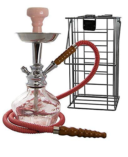 MYA Vento Glass Hookah Shisha – Gives Denser Smoke – Small Size,...