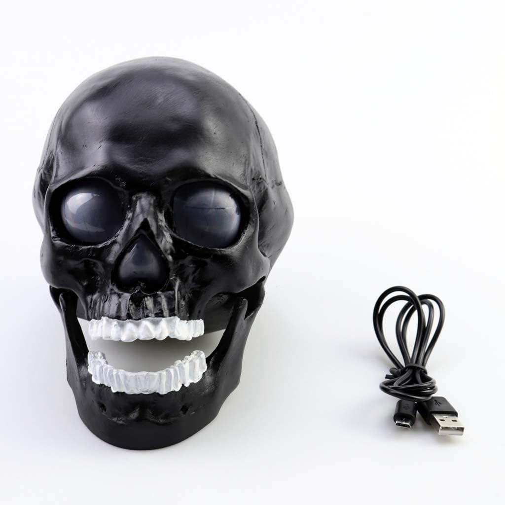 Amazon Com Mankvis Resin Skull Statue Decoration Wireless Bluetooth Speaker 1200mah Large Capacity Battery Life Home Decoration Office Decoration Electronics