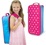 Sophia's Doll Carrier Suitcase and Storage for 18 Inch Dolls, Hot Pink Polka Dot Travel Case for 18 In Dolls and Accessories