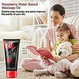 Water Based Sensual Massage Oil Raspberry for Men