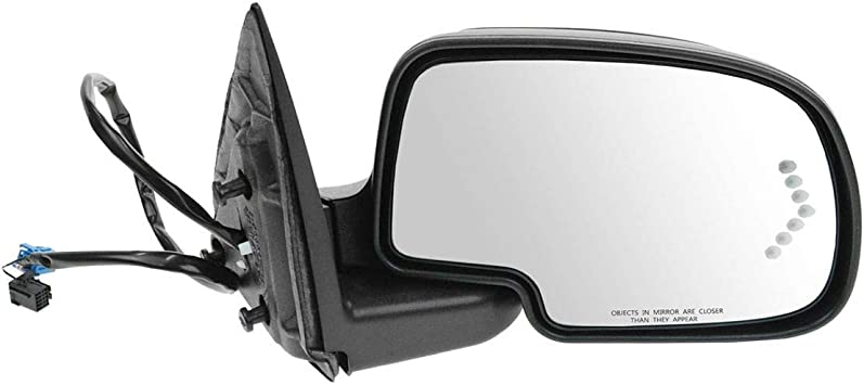 Mirror Cap Smooth Black Driver Side Left LH for Chevy Cadillac GMC SUV New