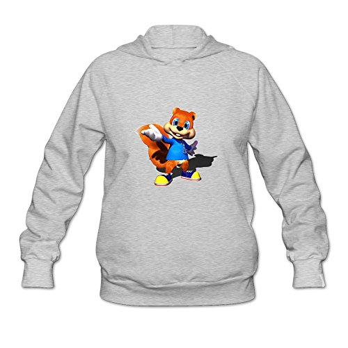Price comparison product image Conker's Bad Fur Day Hot Topic 100% Cotton Ash Long Sleeve Hoodies For Adult Size XL