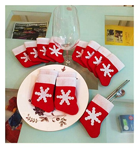 12pcs Christmas Stocking Dinnerware decorations product image