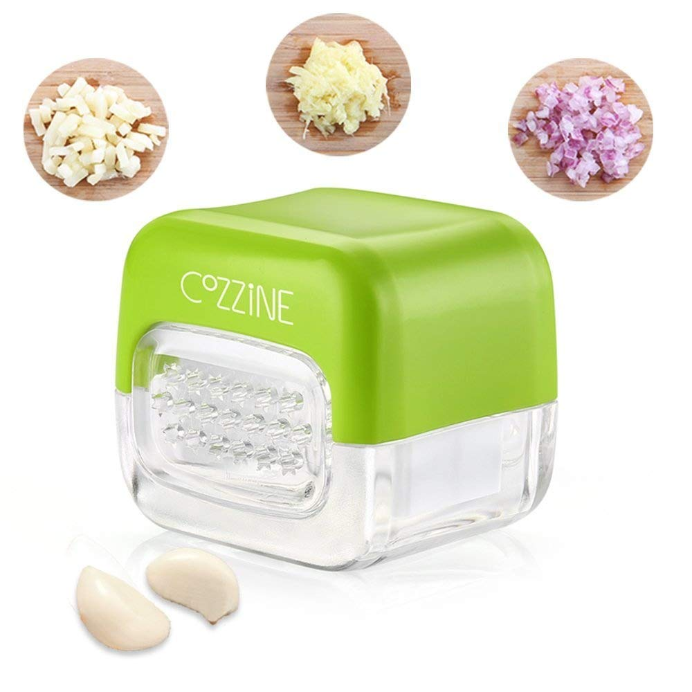 Cozzine Kitchen Garlic Press, 2 in 1 Grinder Manual for pressare Garlic Onion Ginger ECC