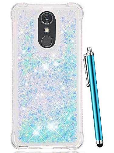 Clear Baby Pink Zebra - LG Stylo 4 Case, LG Q Stylus Case,LG Stylo 4 Plus,LG Stylus 4 Case,CAIYUNL Clear TPU Glitter Bling Shiny Liquid Quicksand Sparkle Cute Women Men Cover Protective Luxury Design For LG Stylo 4-Baby Blue