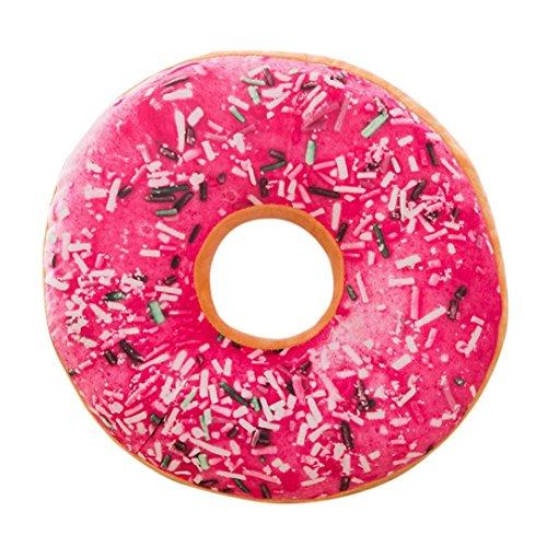 (Goddessvan Soft Plush Pillow Stuffed Seat Pad Sweet Donut Foods Cushion Cover Case Toys (40cm x 40cm x 12cm) (40cm x 40cm x 12cm, E))