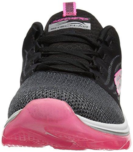 Skechers Donna Skech Aria Deluxe Sneaker Nero Caldo Rosa