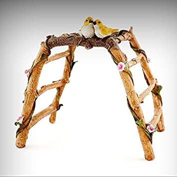Garden Arbor With Birds TO 4539 Miniature Fairy Garden Diorama   My Mini Fairy  Garden Dollhouse
