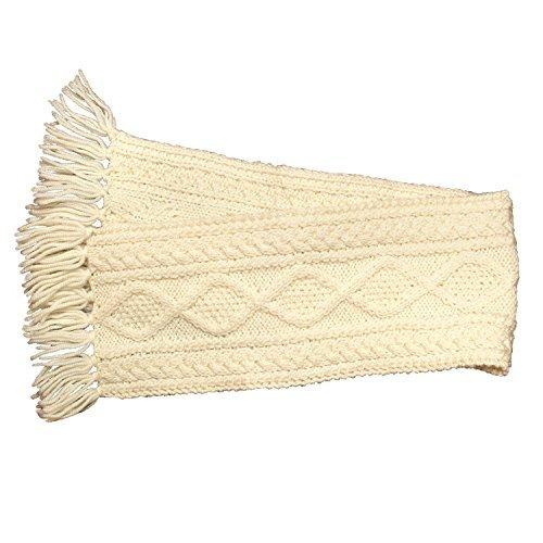 100% Irish Merino Wool Children's Handknit Natural Scarf by Carraig Donn