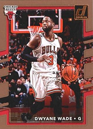 a568e7780 Amazon.com  Basketball NBA 2017-18 Donruss  25 Dwyane Wade Bulls ...