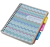 MaxGear Index Dividers with Tabs Sticky Notes Paper Double Sided Spiral Notebook ,3 Subject Notebook Waterproof Cover ,3 Pockets Notebook,230 Pages ,Green Peak