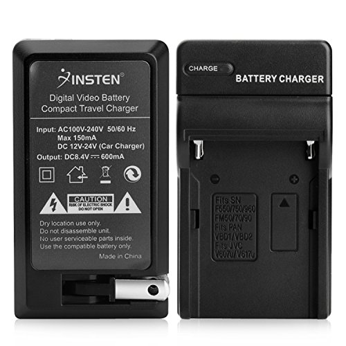Insten BATTERY CHARGER Compatible with SONY NP-F970 NP-F960 NP-770 NP-F550