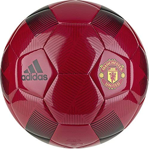 Adidas Ball Red Soccer (adidas English Premiership Manchester United FC Soccer Ball, Red, 3)