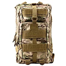 Military Tactical Rucksack, TOPQSC Military Tactical Rucksack Waterproof Outdoor Tactical Bag Shoulder Expandable Hunting Tactical Daypack & Sport Casual Backpack for Camping Trekking Travel Hunting 35/45L