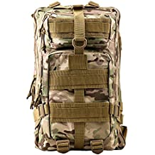 Military Tactical Rucksack, TOPQSC Waterproof 600D Oxford fabric Outdoor Tactical Bag Shoulder Expandable Hunting Tactical Daypack & Sport Casual Backpack for Camping Trekking Travel Hunting