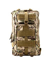 Military Tactical Rucksack, TOPQSC Waterproof 600D Oxford fabric Outdoor Tactical Bag Shoulder Expandable Hunting Tactical Daypack & Sport Casual Backpack for Camping Trekking Travel Hunting 35/45L