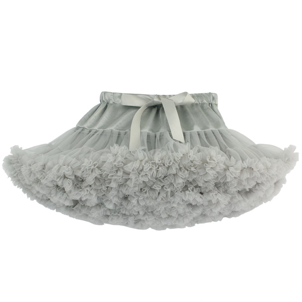 TRADERPLUS Girls' Fluffy Pettiskirt Princess Ballet Dance Tutu Pleated Skirt