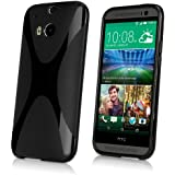 HTC One (M8 2014) Case, BoxWave® [BodySuit] Premium Textured TPU Rubber Gel Skin Case for HTC One (M8 2014) - Jet Black